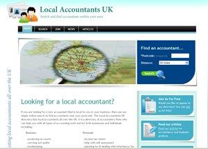 Local Accountants directory screen image